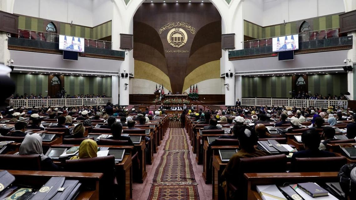 Members of the Afghan parliament attend the inauguration of the newly-elected parliament in Kabul, Afghanistan April 26, 2019. (Reuters)