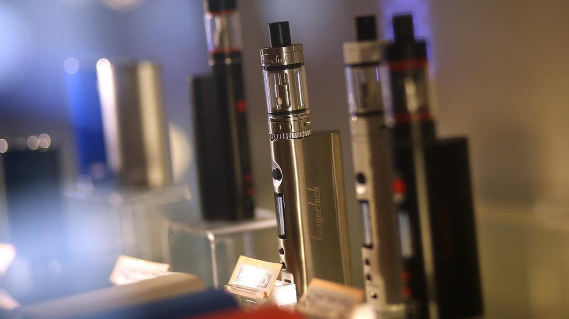 E-cigarettes are displayed at Gone With the Smoke Vapor Lounge on May 5, 2016 in San Francisco, California. (AFP)