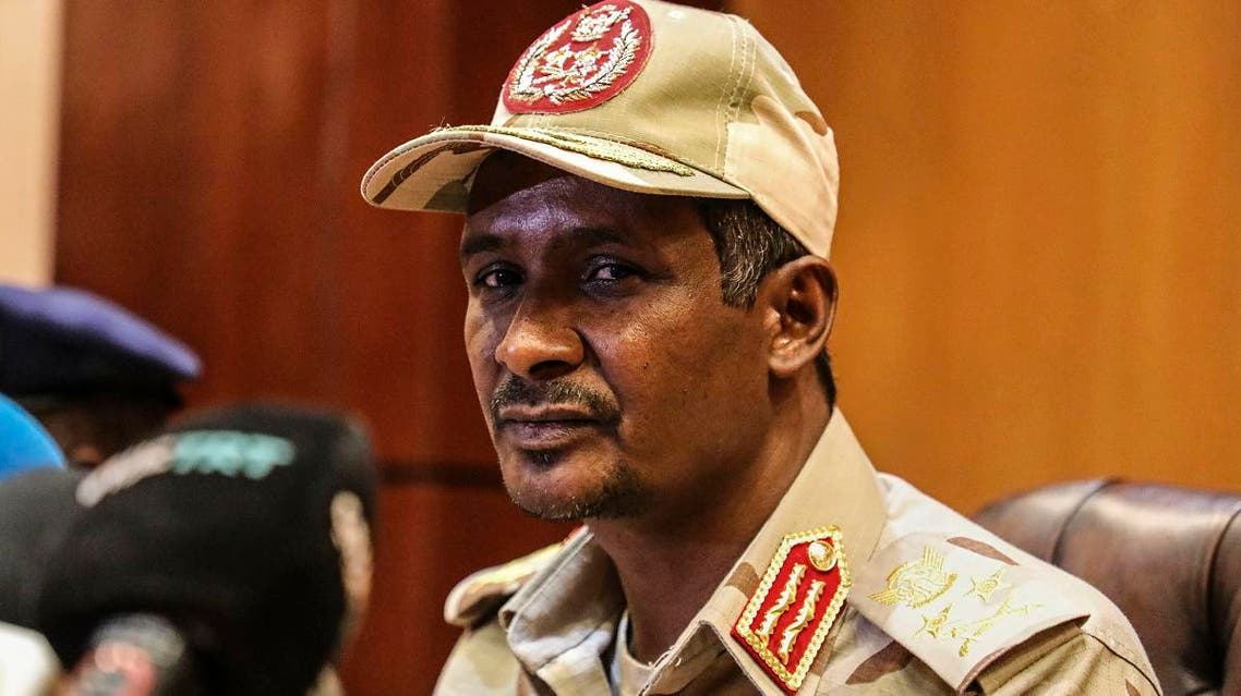 Gen. Mohamed Hamdan Dagalo, the deputy head of the military council speaks at a press conference in Khartoum, Sudan, Tuesday, April 30, 2019. (AP)