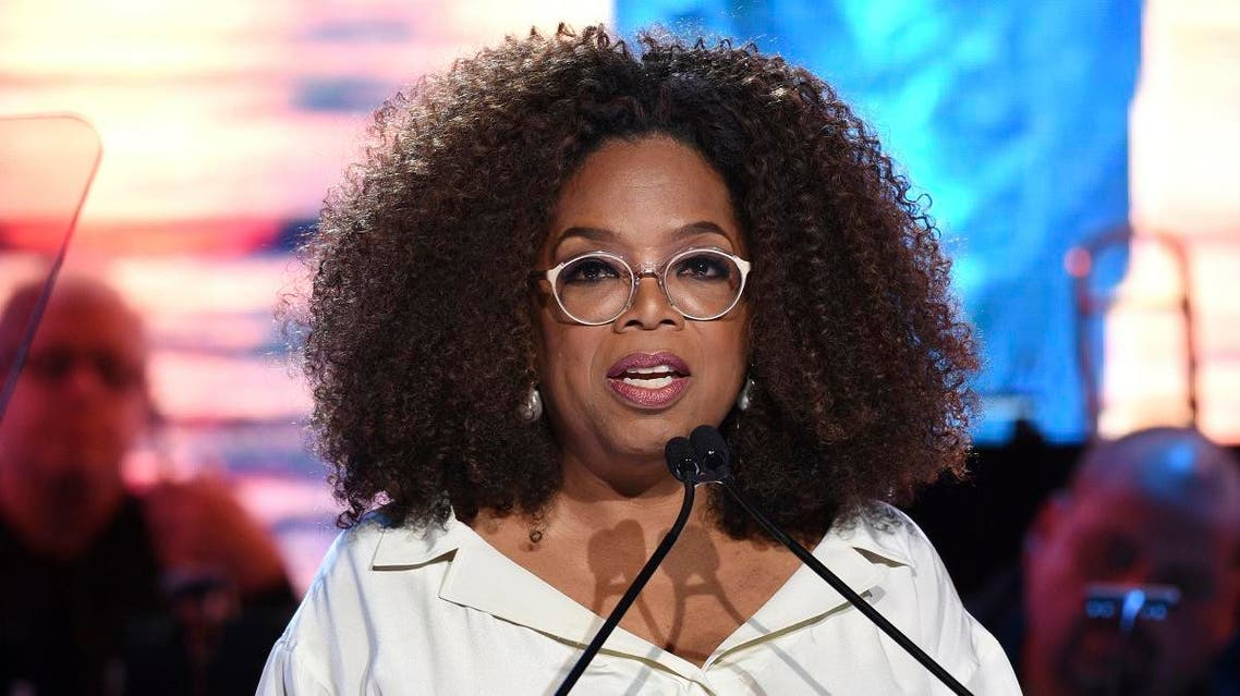In this May 15, 2019 file photo, Oprah Winfrey speaks at the Statue of Liberty Museum opening celebration at Battery Park in New York. (AP)