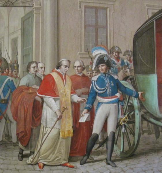 لوحة تجسد عملية اعتقال البابا