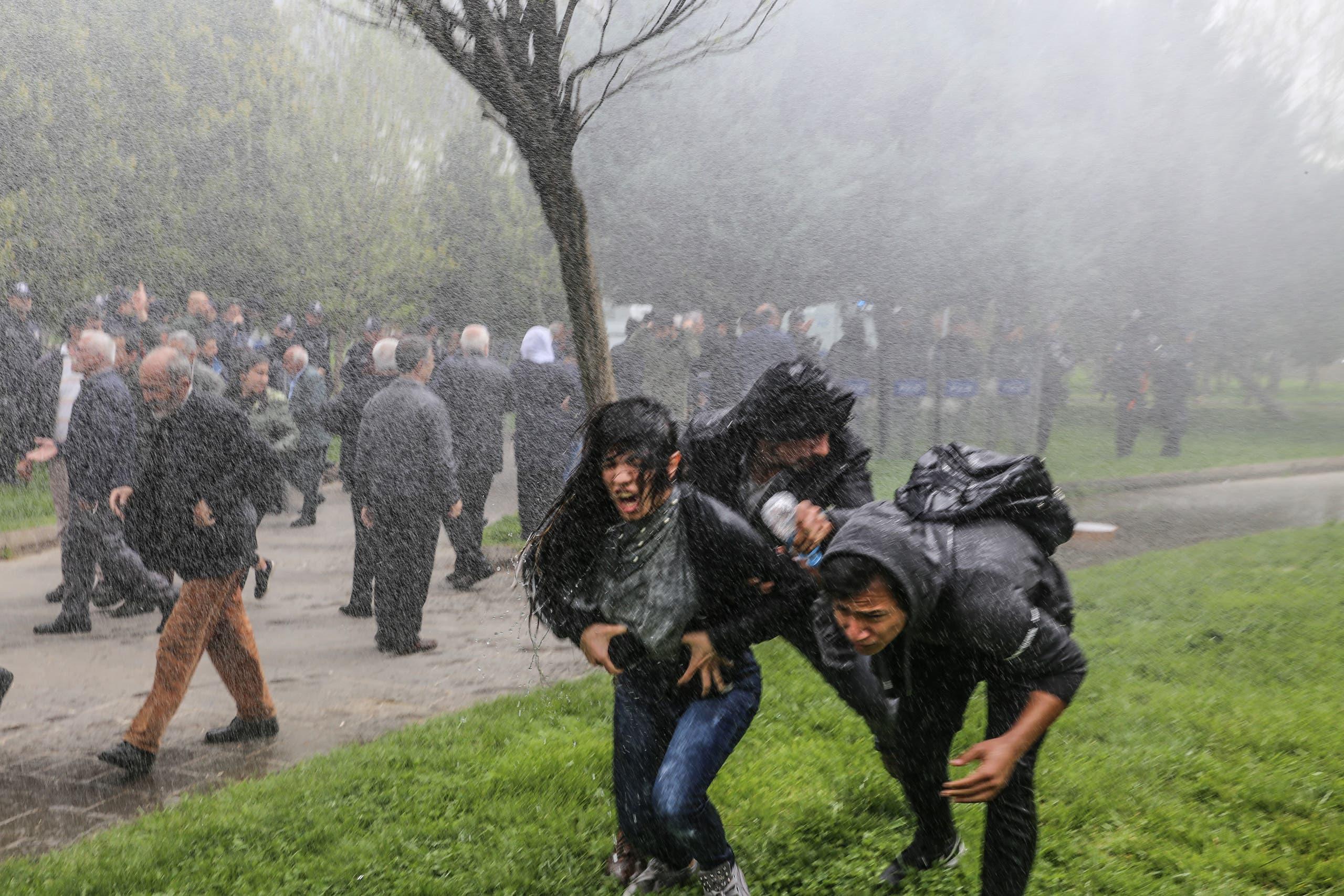 الشرطة التركية تفرق تظاهرة متضامنة مع الأكراد في ديار بكر(فرانس برس- أرشيفية)