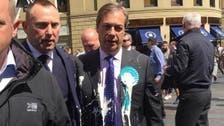 Brexiteer Farage splattered in latest UK milkshake attack