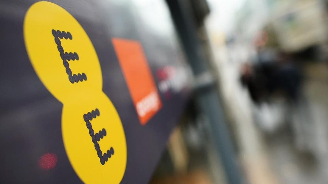 A general view of a branch of the mobile operator EE is pictured in central London on February 5, 2015. (AFP)