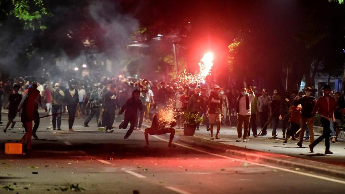 Protesters clash with police in Thamrin, Jakarta, Indonesia, early May 22, 2019. (Reuters)