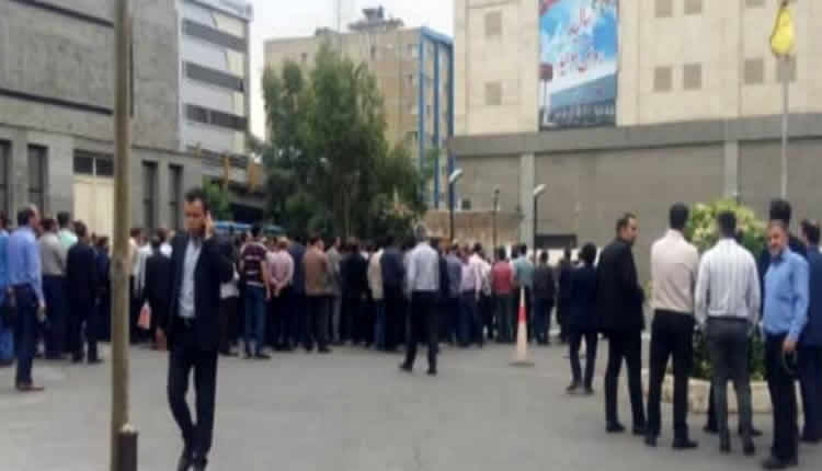 احتجاج عمال مترو  طهران