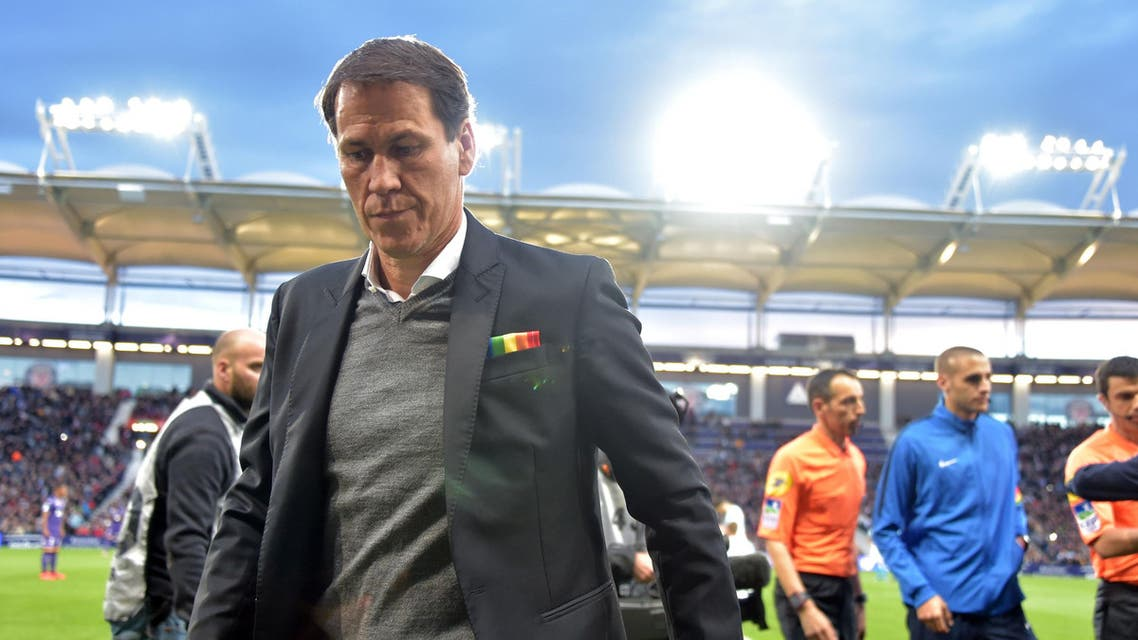 Rudi Garcia during a match against Toulouse on May 18, 2019. (AFP)