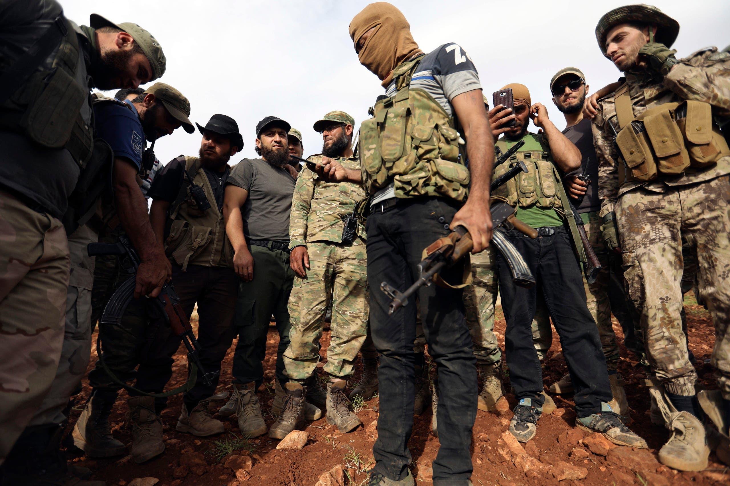 فصائل مسلحة في ريف حماة