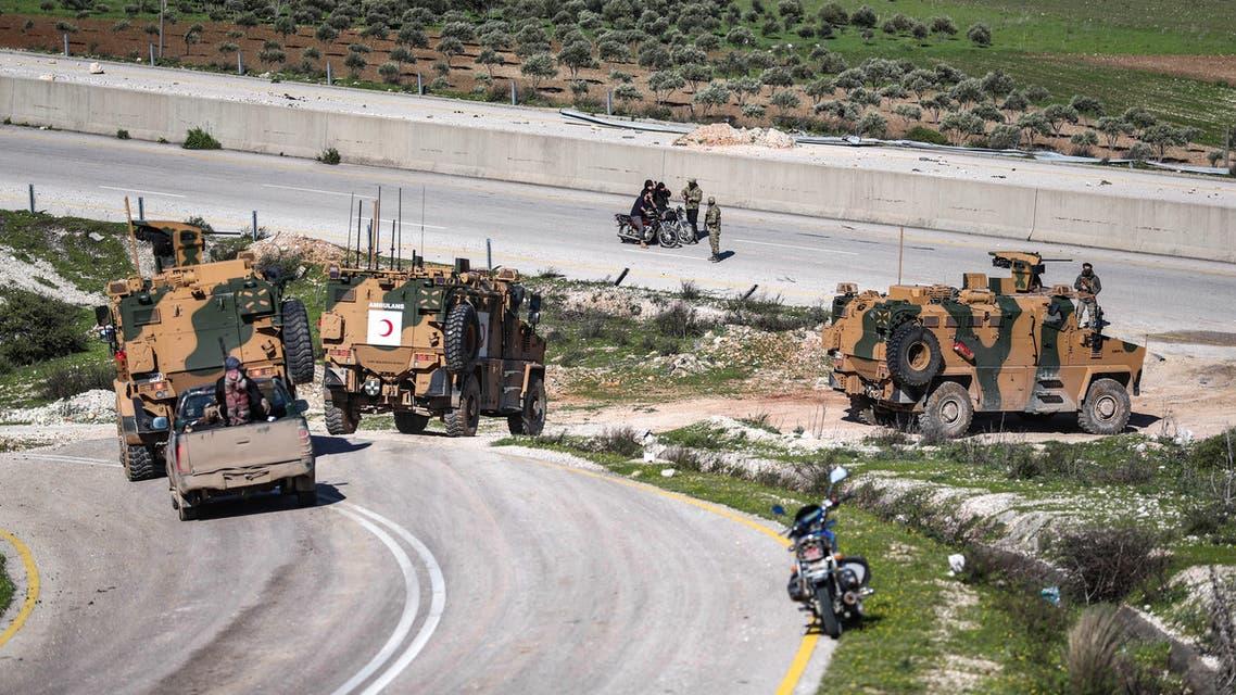 آليات تركية في إدلب(فرانس برس)
