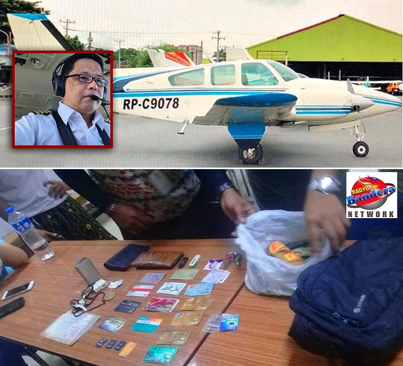 الطائرة وقائدها وأغراض له وجدوها في حقيبة صغيرة معلقة بأشلاء كانت طافية فوق الماء