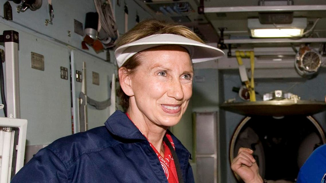 Barbara Barrett attends a training session in the International Space Station (ISS) training module at the Star City space centre outside Moscow. (File photo: Reuters)