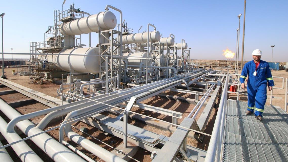 A worker in an oil field in Basra. (Reuters)