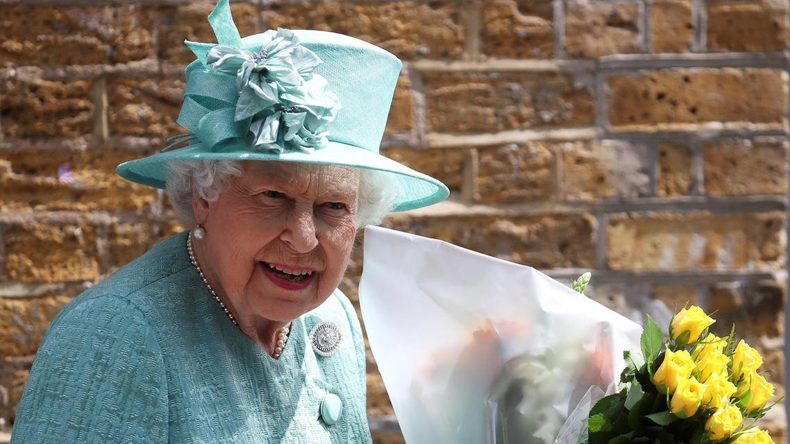 Queen Elizabeth departs after visiting a replica of one of the original Sainsbury's stores in London on May 22, 2019. (Reuters)