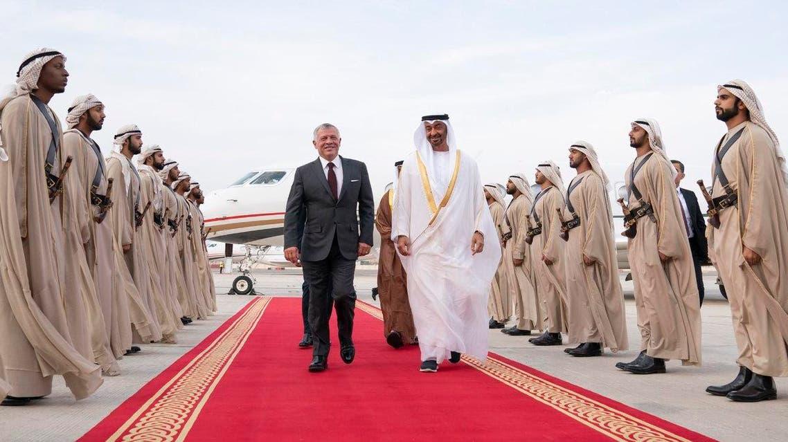 abu dhabi crown prince jordan king WAM