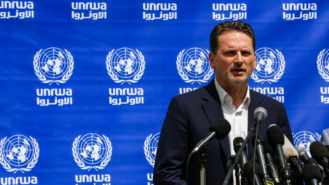 Pierre Krahenbuhl, Commissioner-General of the United Nations Relief and Works Agency for Palestine (UNRWA), gives a press conference in Gaza City on May 23, 2019.
