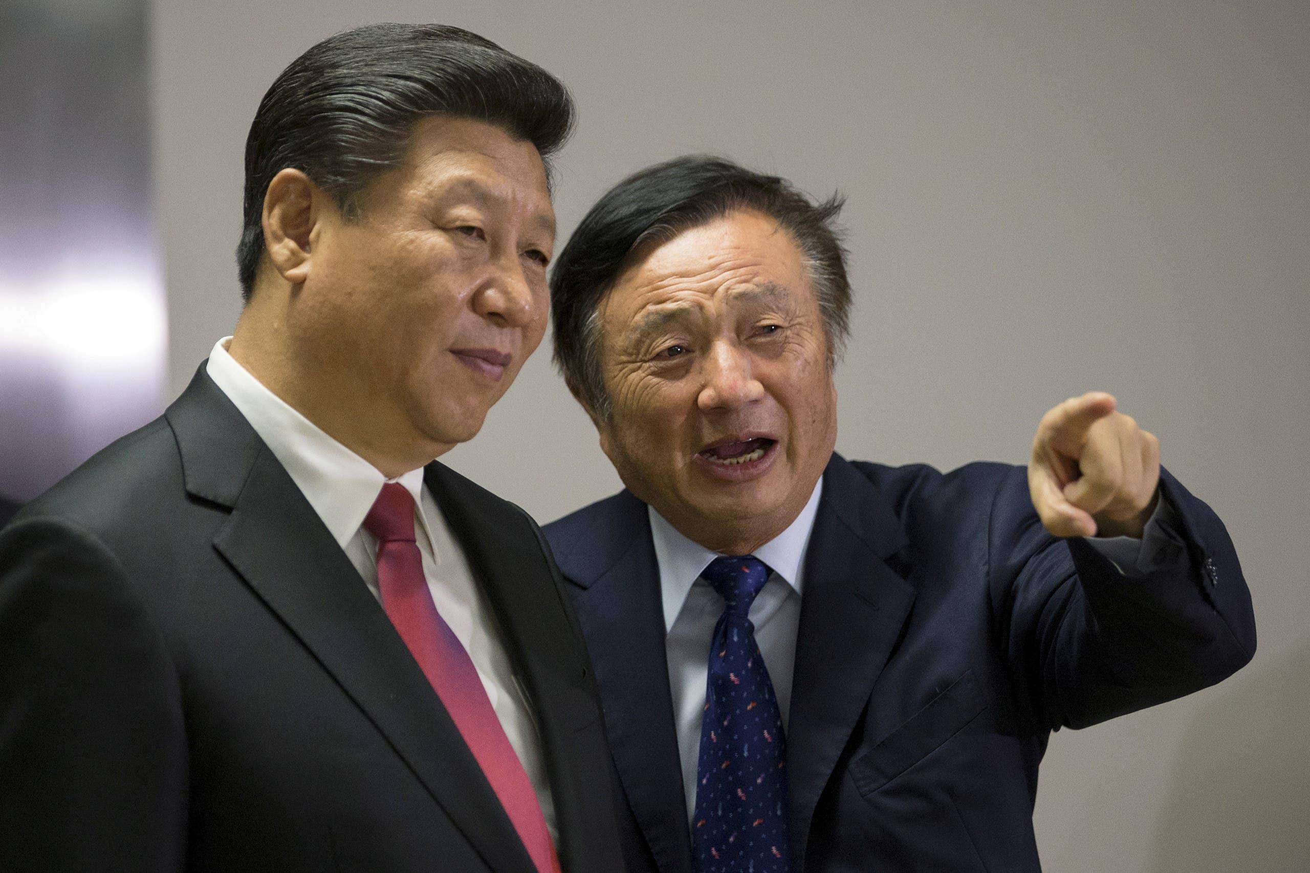 مؤسس هواوي مع الرئيس الصيني
