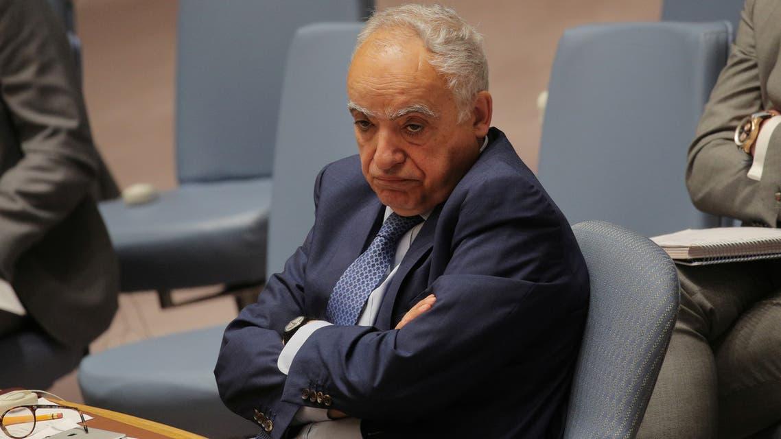 U.N. Libya envoy Ghassan Salame attends a United Nations Security Council meeting at U.N. headquarters in New York, U.S., May 21, 2019. REUTERS/Brendan McDermid