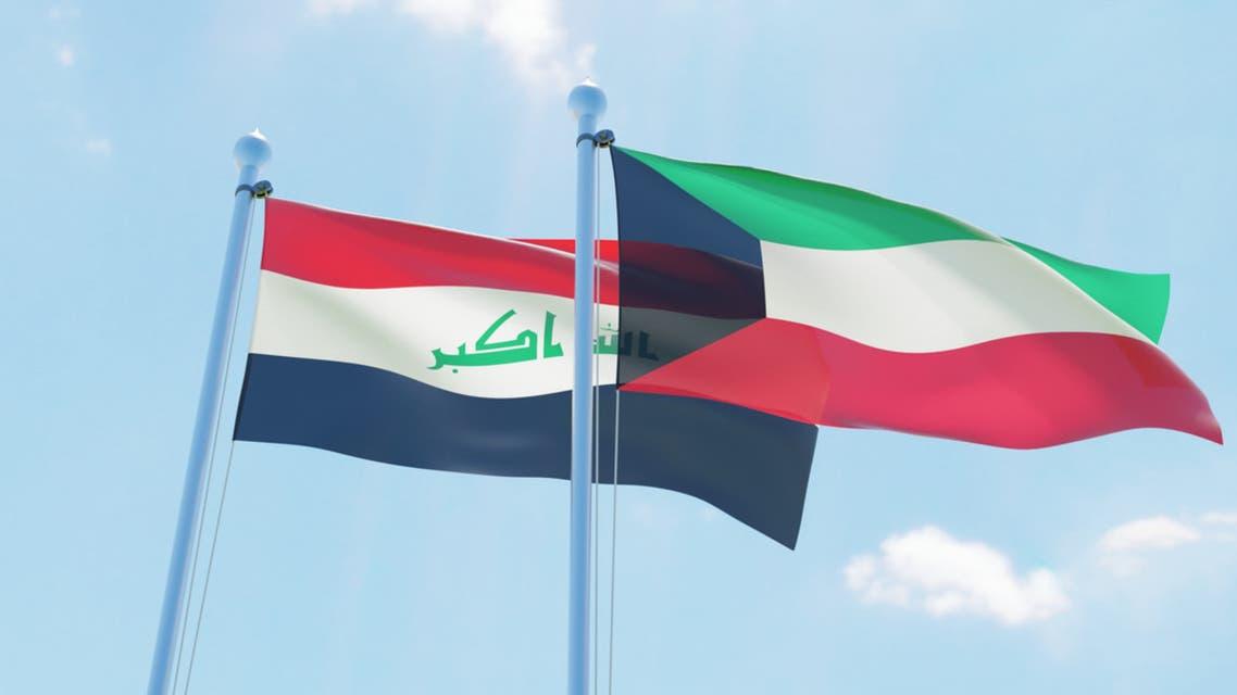 علم الكويت والعراق