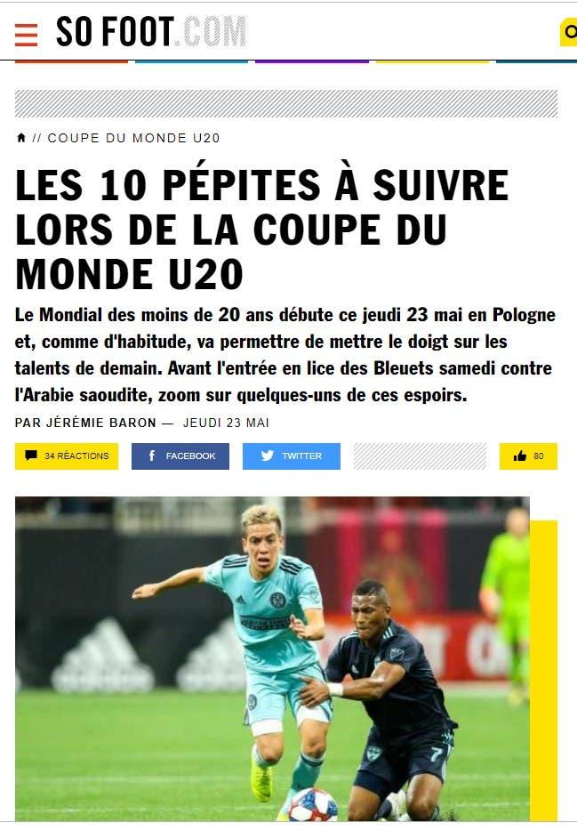 تقرير الصحيفة الفرنسية عن أبرز 10 مواهب في المونديال