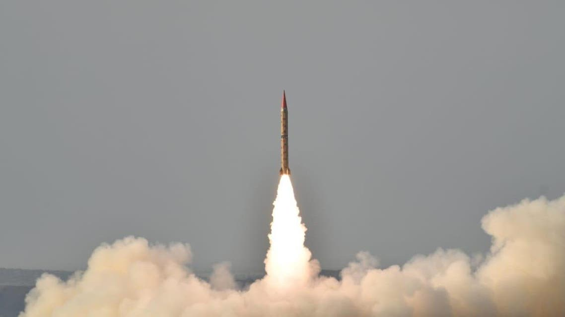 Shaheen-II during a training launch in this handout photo released by Inter Services Public Relations (ISPR) on May 23, 2019. (Reuters)