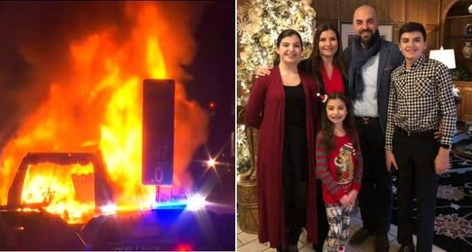بالاصطدام وبالنار التي اشتعلت سريعا، قضى أفراد إحدى أشهر العائلات اللبنانية المغتربة في الولايات المتحدة