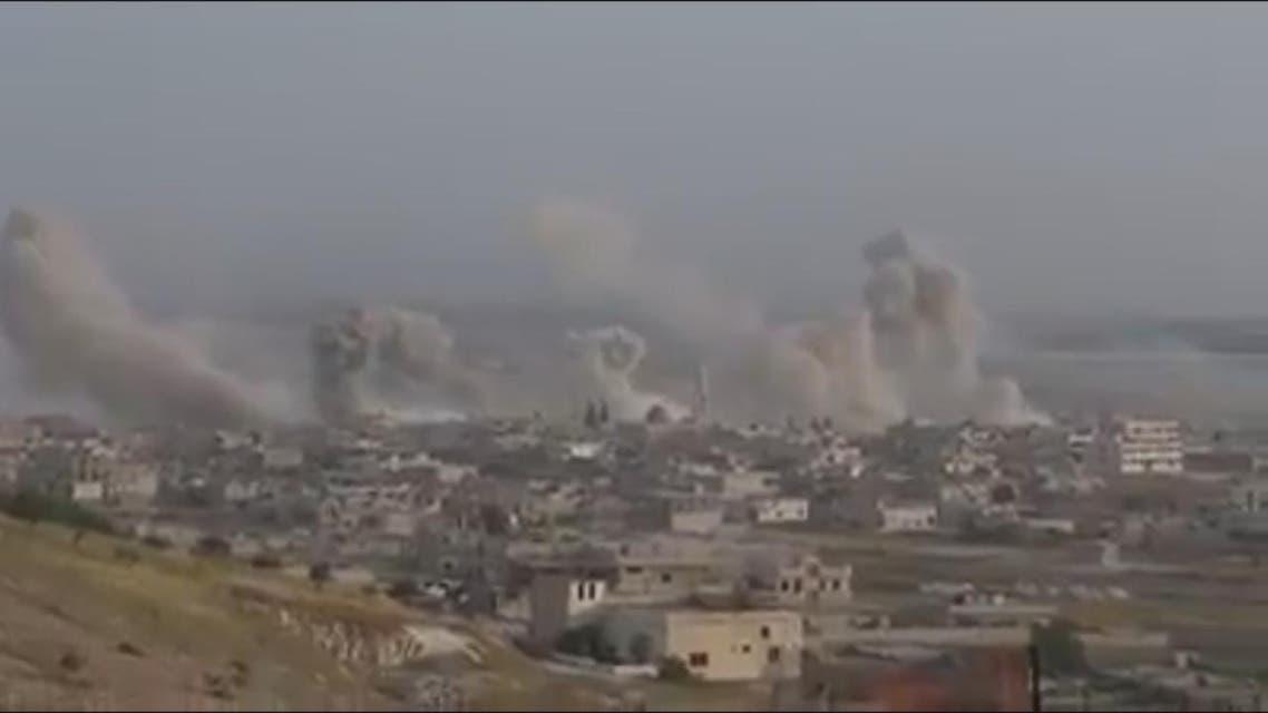 THUMBNAIL_ لقطات تظهر القصف العنيف للنظام على خان شيخون