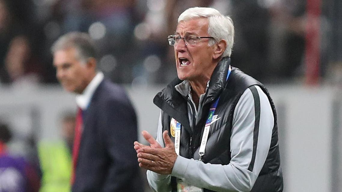 Marcello Lippi during a match against Iran at the Mohammed bin Zayed Stadium, Abu Dhabi, on January 24, 2019. (Reuters)