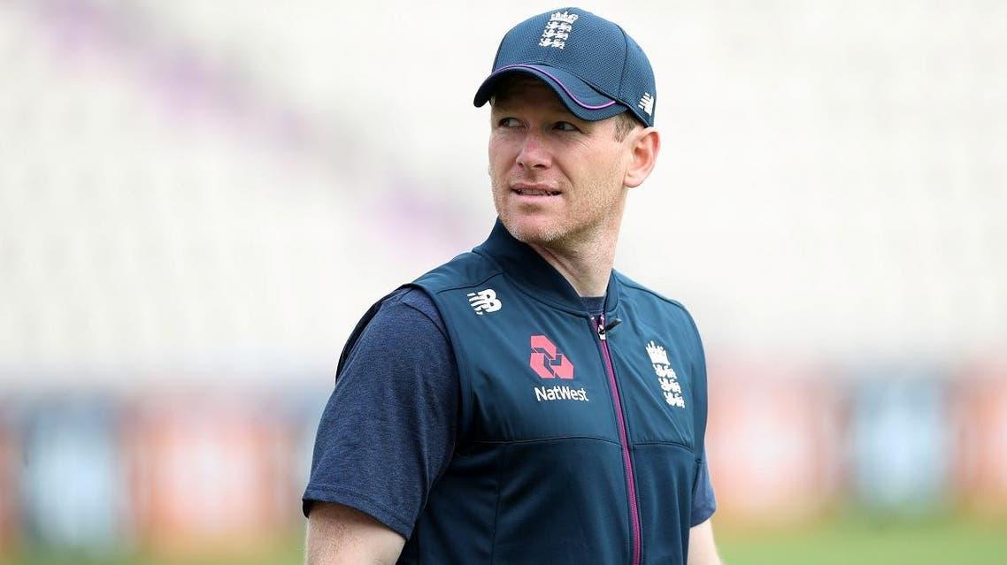 England captain Eoin Morgan during nets on May 24, 2019, at Hampshire Bowl, Southampton, Britain. (Reuters)