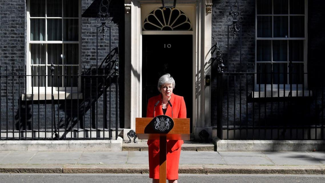 British Prime Minister Theresa May delivers a statement in London, Britain, May 24, 2019. (Reuters)