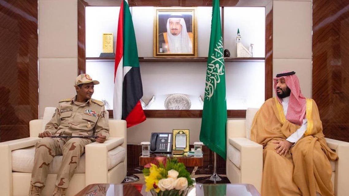 Saudi Arabia's Crown Prince meets deputy head of Sudan's military council. (Supplied)