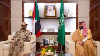 ولي العهد السعودي يجتمع مع نائب رئيس الانتقالي السوداني