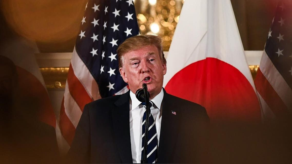 US President Donald Trump speaks during a meeting with business leaders in Tokyo on May 25, 2019. (AFP)