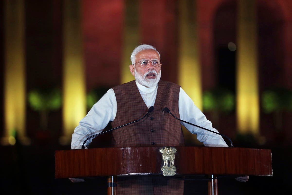 Indian Prime Minister Narendra Modi announced on Monday 20 trillion rupee ($266 billion) fiscal and monetary package to prop up the ailing economy. (AP)