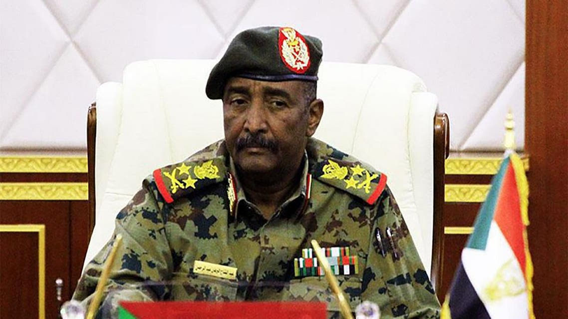 Lieutenant General Abdel Fattah al-Burhan, the new chief of the military council in Sudan attending a session in the capital Khartoum. (AFP)