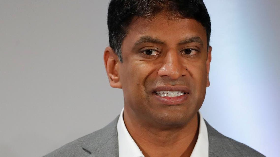 CEO Vas Narasimhan of Swiss drugmaker Novartis addresses the company's annual news conference in Basel, Switzerland January 30, 2019. (Reuters)