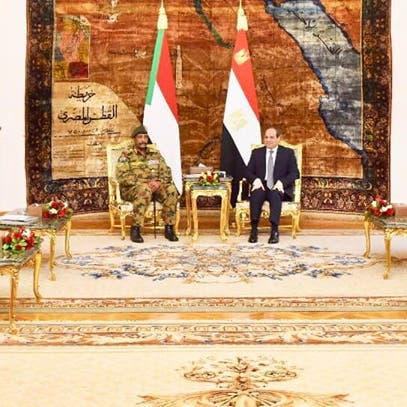 السيسي والبرهان بحثا سبل دعم أمن واستقرار السودان