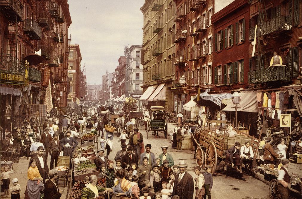 صورة من مدينة نيويورك مطلع القرن العشرين