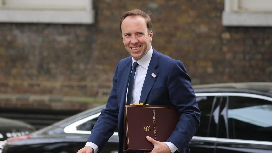 Britain's Health and Social Care Secretary Matt Hancock arrives at 10 Downing Street to attend a Cabinet meeting in London on April 23, 2019. Isabel Infantes / AFP