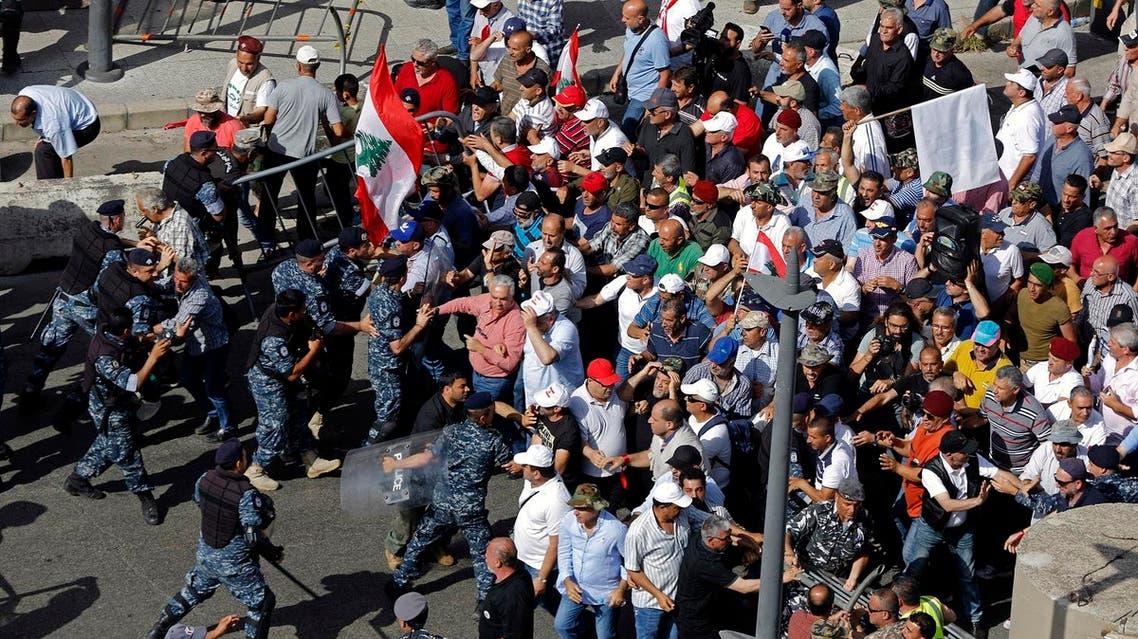 Lebanon budget protests May 2019 (AP)