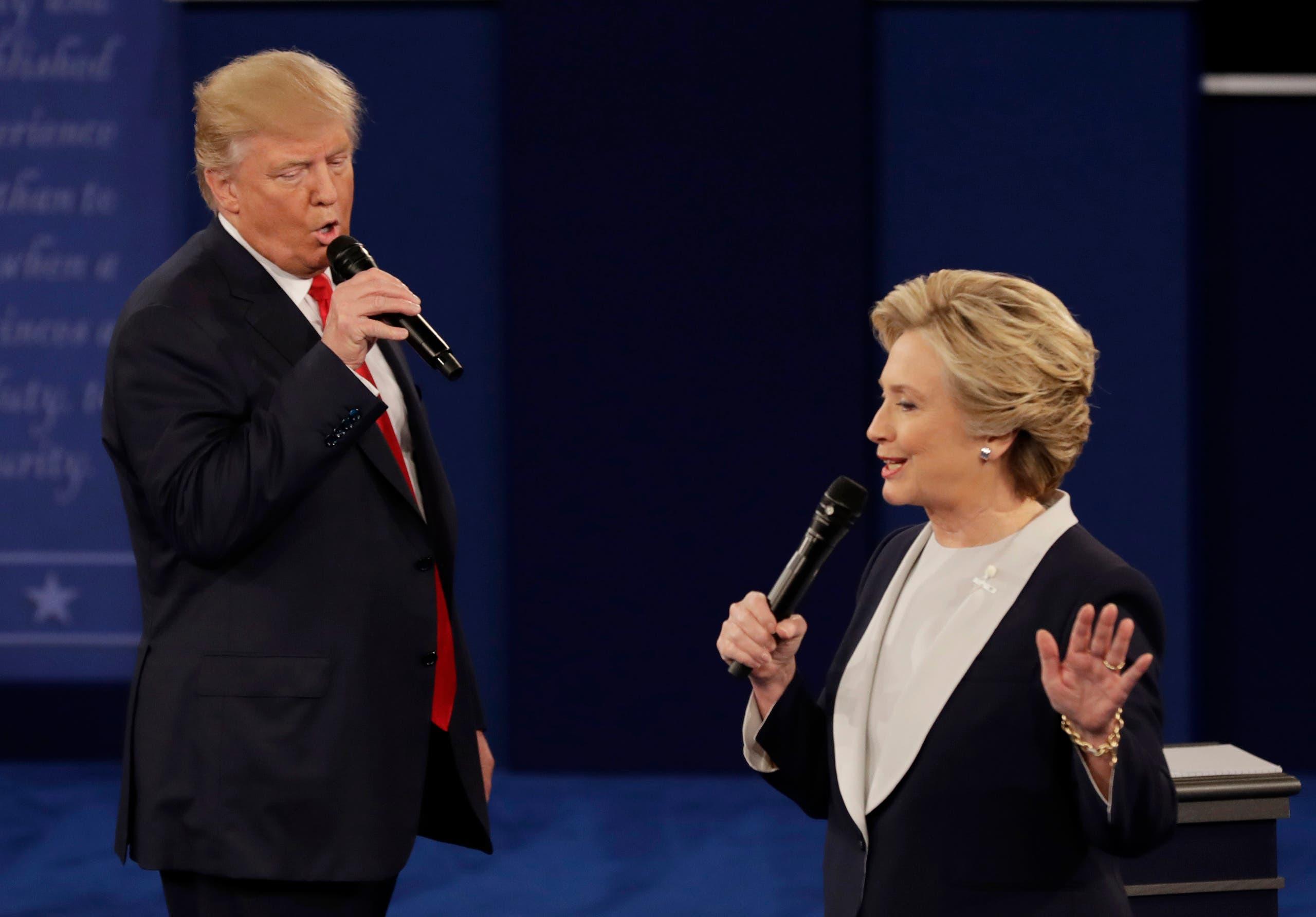 هيلاري كلينتون ودونالد ترمب