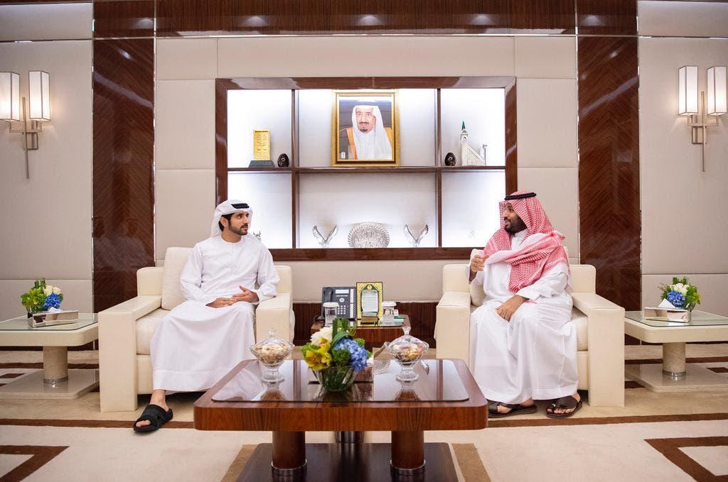 الأمير محمد بن سلمان يستقبل ولي عهد دبي