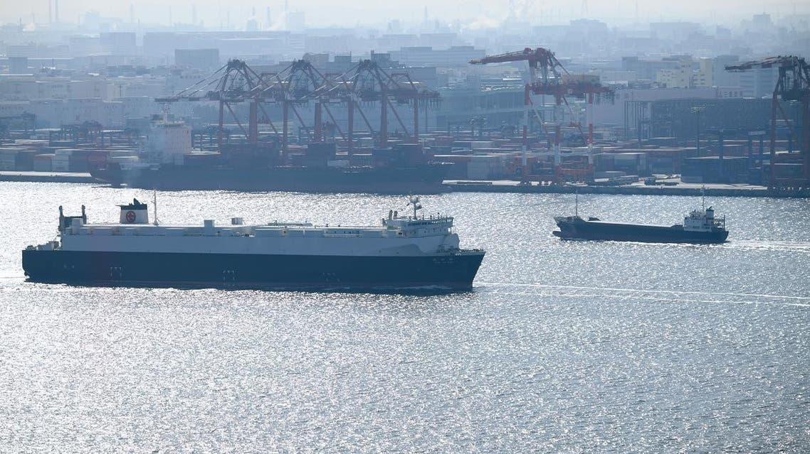 File photo of a cargo ship sailing into Tokyo's port on January 23, 2019. (AFP)