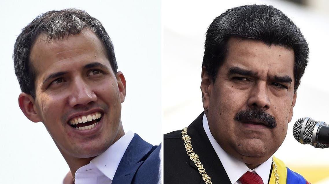 Maduro and Guaido. (AFP)