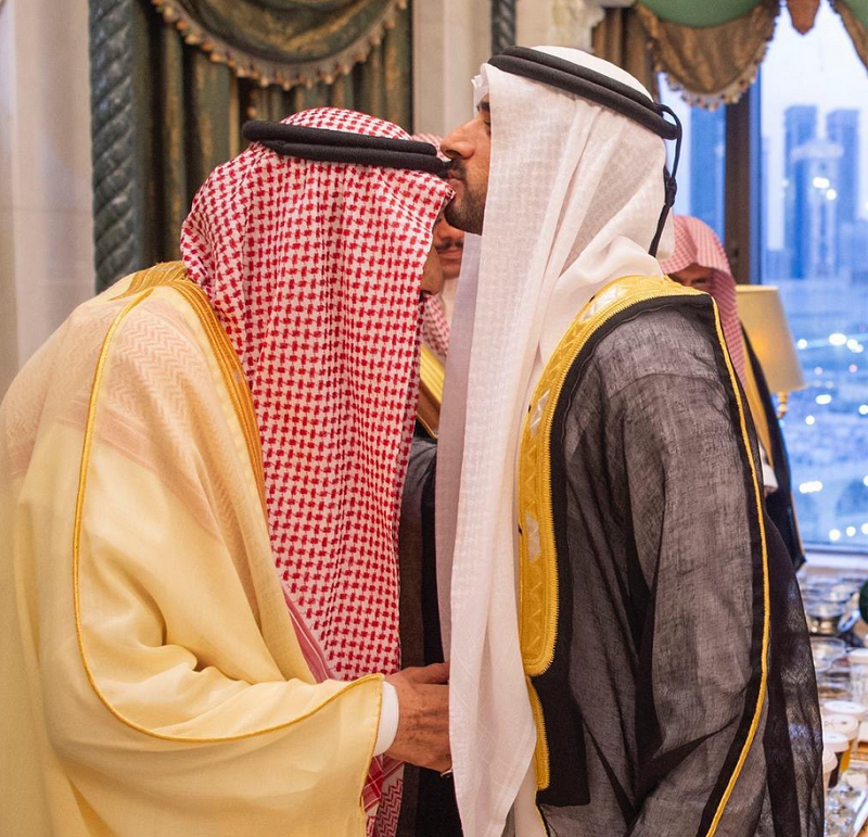 Saudi King, Dubai Crown Prince - Supplied
