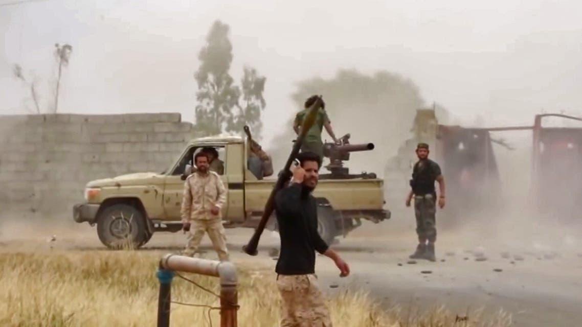 عناصر من الجيش الليبي في طرابلس(فرانس برس)