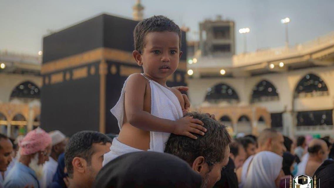 Kids in Masjid al haram