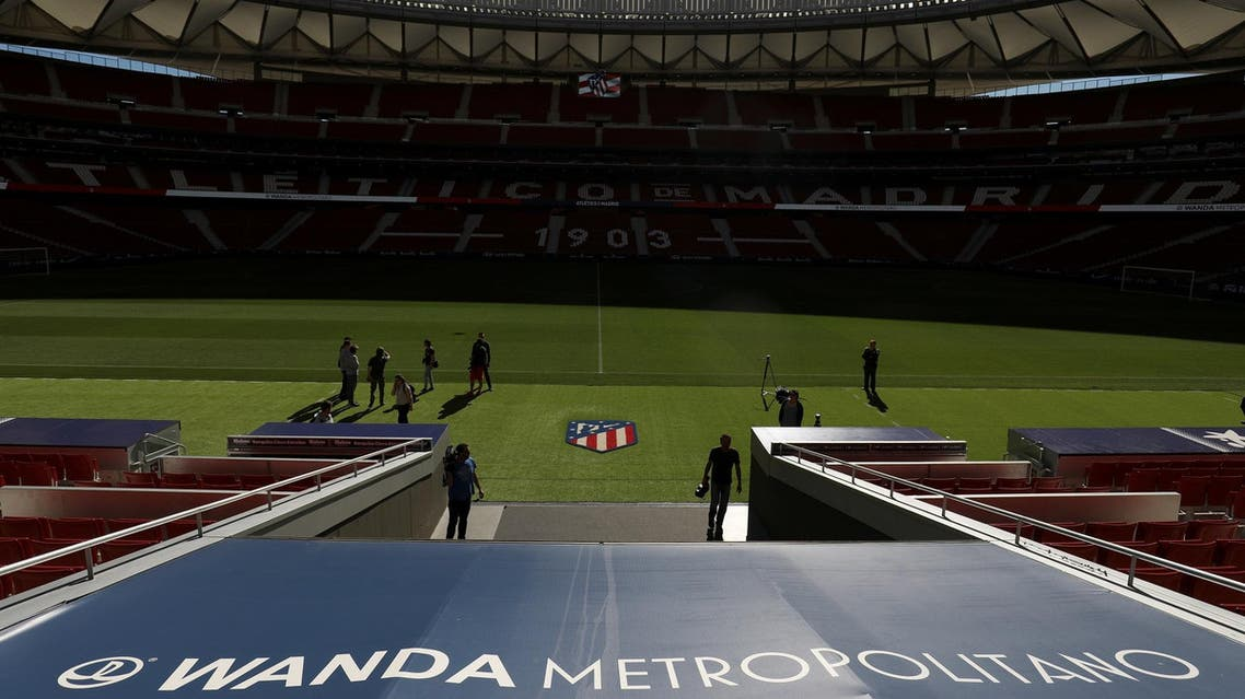 A general view of the Wanda Metropolitano stadium on May 13, 2019. (Reuters)