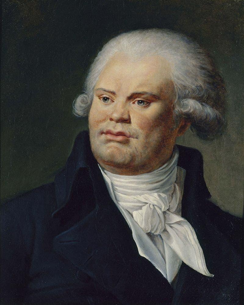 لوحة زيتية تجسد جورج دانتون