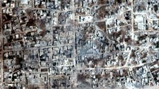 Satellite images show fields in northwest Syria on fire