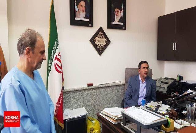نجفی در دادسرا با لباس زندان